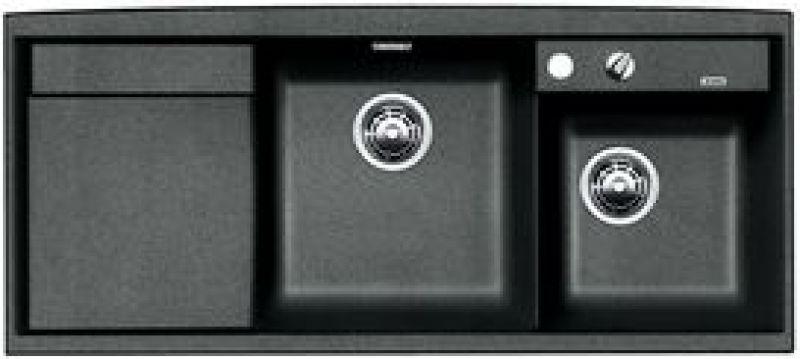 eviers encastrer evier blancoaxia ii 8s granit. Black Bedroom Furniture Sets. Home Design Ideas