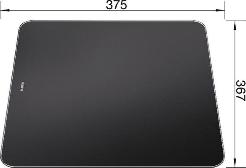 planche a decouper en verre securit noir zenar achat vente blanco 224629. Black Bedroom Furniture Sets. Home Design Ideas