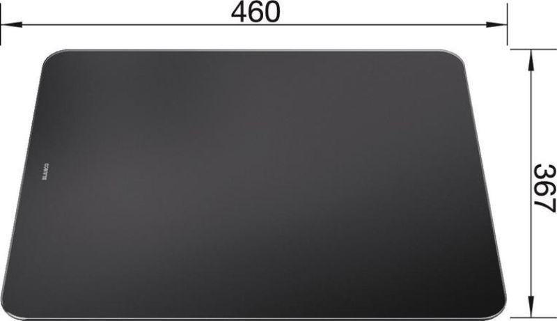 Planche a decouper verre securit noir p zenar achat vente blanco 223078 - Prix du verre securit ...