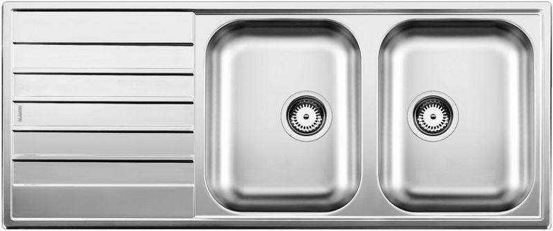 eviers encastrer blancolivit 8s inox achat vente blanco 514798. Black Bedroom Furniture Sets. Home Design Ideas