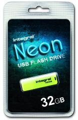 INTEGRAL, produit référence : NEON JAUNE 32 GB