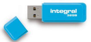 INTEGRAL, produit référence : NEON BLEU 32 GB