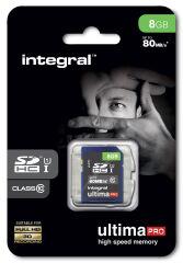INTEGRAL, produit référence : SDHC 8 GO CL 10/80