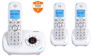 ALCATEL, produit référence : XL 585 VOICE TRIO BLANC
