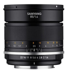SAMYANG, produit référence : MF 85/1.4 MK 2 CANON EF-M